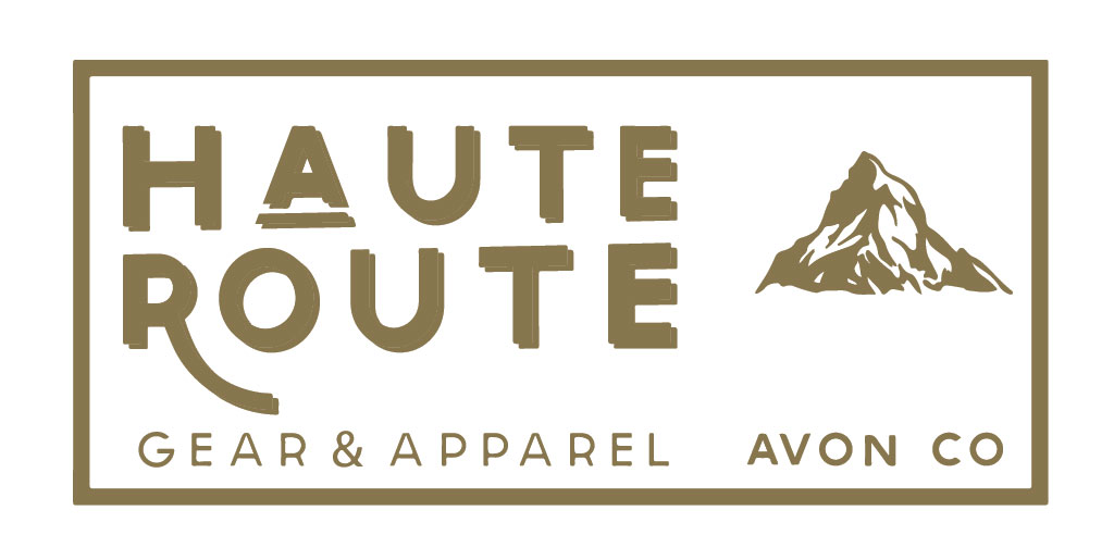 Haute Route logo for EverGold shirt - with drop shadow